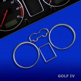 CERCLAGE ENTOURAGE COMPTEUR CHROME VW GOLF 4