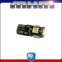 Ampoule 5 LED blanche T10 W5W SMD-CANBUS
