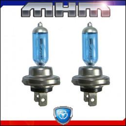 Ampoules Bleutées H7 55W Eclairage blanc