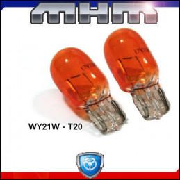 Ampoules T20 WY21W orange