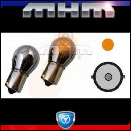 Ampoules orange chrome BA15S culot droit