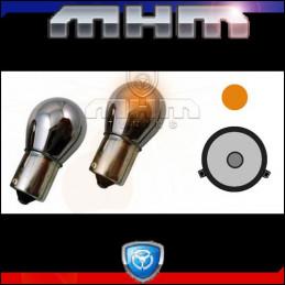 Ampoules orange chrome BAU15S culot décalé