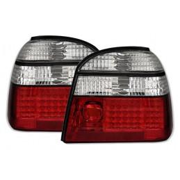 2 FEUX ARRIERE LED ROUGE BLANC VW GOLF 3 91-99 + CABRIO