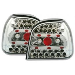 2 FEUX ARRIERE LED CHROME VW GOLF 3 91-99 + CABRIO
