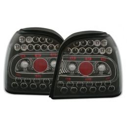 2 FEUX ARRIERE LED NOIR VW GOLF 3 91-99 + CABRIO