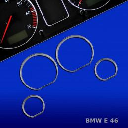 CERCLAGES ENTOURAGE COMPTEUR CHROME BMW E46