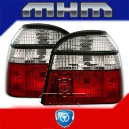 2 FEUX ARRIERE ROUGE BLANC VW GOLF 3 91-99 + CABRIO