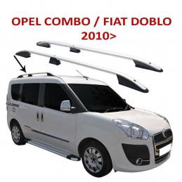 BARRES DE TOIT ALU FIAT DOBLO 2010+ - OPEL COMBO 2011+