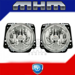 2 FEUX PHARE ANGEL EYES CHROME VW GOLF 2