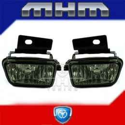 2 ANTIBROUILLARDS NOIR VW GOLF 2 + SUPPORT