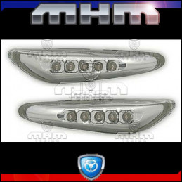 REPETITEURS LATERAUX LED CHROME BMW E46 BERLINE TOURING 01-05