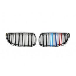 CALANDRE CHROME + NOIRE DOUBLE BARRE BMW E92 E93