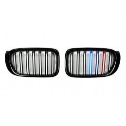 CALANDRE NOIRE BRILLANTE DOUBLE BARRE BMW SERIE X3/X4 F25/F26